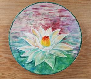 Glendale, AZ Lotus Flower Plate
