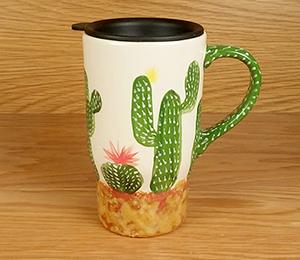Glendale, AZ Cactus Travel Mug