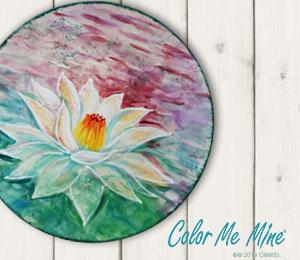 Glendale, CA Lotus Flower Plate
