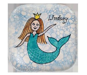 Glendale, CA Mermaid Plate