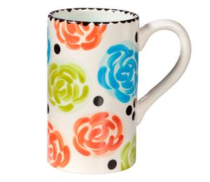 Glendale, CA Simple Floral Mug